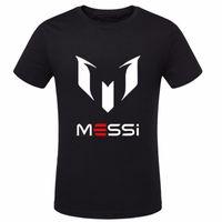 barcelona t shirts - summer brand cotton Barcelona MESSI Soccer Men t shirt tops Man casual sport short sleeve football t shirts Plus Size