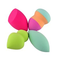 Wholesale Makeup Sponge Blender Blending Powder Smooth Puff Flawless Beauty Foundation Sponge foundation Colorful
