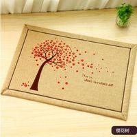 merchandise - HD Zakka fresh and lovely thick cotton mat mat door mat slip pad foyer merchandise g
