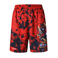 Wholesale Basketball Training Causal Short Plus Size Men Marvel Short Trousers Fashion Superman Iron Man Sport Shorts Sizes Fit foreign friends