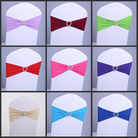 Wholesale New spandex chair band with plastic buckle for wedding decoration lycra cover chair bands elastic chair band