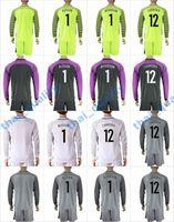 Wholesale New Product Uniforms Kit Copa America Jersey Brazil JEFFERSON ALISSON CARREIRA Soccer Jersey Goalkeeper Green Long Sleeve Jersey