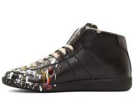 Wholesale new Maison Martin Margiela ink graffiti casual high top shoes men s sneakers shoes custom