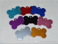 Wholesale Pet Tags mm Mix Random Colors Aluminium Alloy Dog Bone Shape Tags Pet ID Tags