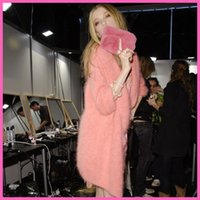 Wholesale T show genuine mink cashmere sweater women cashmere cardigan knitted pure mink jacket long fur coat Customized M7