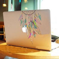 Wholesale Colorful Dreamcatcher Wind Chimes Indian Feather Vinyl Decal Laptop Stickers For Apple Macbook Pro Air inch Laptop Sticker