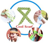 Wholesale Summer Cooling Scarf Cool Water Band Speed to Cool Towel Cooling Scarf Ties Neck Scarves HHA909