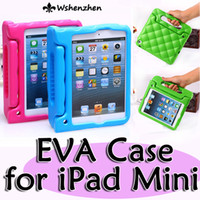 Wholesale Case hand held rhombus Shock Proof EVA full body cover Kids Children Safe Silicone for ipad mini