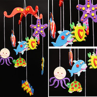 Wholesale Children handmade DIY material package EVA creative and colorful wind chimes Kindergarten holiday gifts