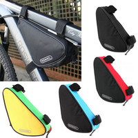 Wholesale 4 Colors Waterproof Roswheel L Outdoor Triangle Cycling Bicycle Front Tube Frame Bag Mountain Bike Pouch