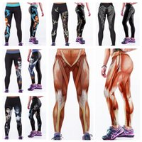 Wholesale Fashion Elastic Capris Europe High Waist Long Trousers D Print Leggings Quick Drying Fitness Yoga Pants Body Sculpting Goldfish LNASlgs