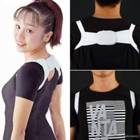 Wholesale Adjustable Therapy Back Support Brace Belt Band Posture Shoulder Corrector Perfect Back Curve Hump Corset Health Care