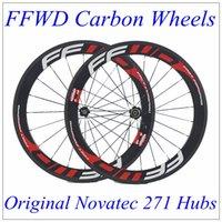 Wholesale FFWD Carbon Wheels C mm Depth mm Width Clincher Tubular K Matt Full Carbon Wheelset With Novatec Hubs Black Spokes