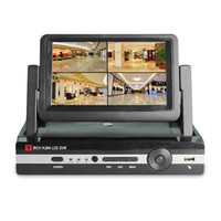 Wholesale 7 inch LCD Screen Channel HVR DVR NVR HD D1 Monitor Video Recording Surveillance CCTV System HDMI Output