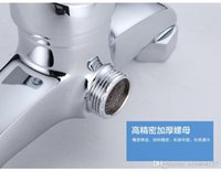 Wholesale Concealed shower mixing valve faucet hot and cold taps bathroom suite full bathroom with shower copper Hot and cold water