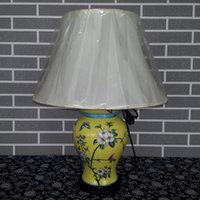 bedding fabrics online - Antique Chinese Hand painted ceramic table lamp online shopping Porcelain Bedside Reading lamps
