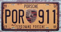 Wholesale Original Metal Tin Sign CAR LICENSE PLATE Decor Pub Club Garage Wall Retro Art Poster Man Cave CP654