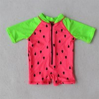 Wholesale M Infant baby Swim Wear watermelon Rush Guards Kids Surfing Clothing UV protection SPF Infantil Swimsuits Kids Beach Wear