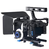 Precio de Aparejo de jaula-Professional Handle DSLR Rig Stabilizer Cámara de vídeo Cage / Seguir Focus / Matte Box Kit Para Sony A7S A7 A7R A7RII A7SII Lumix GH4