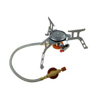 Wholesale New Portable Outdoor Folding Gas Stove Camping Hiking Picnic W Igniter Gas Stoves Camping Equipment H210682