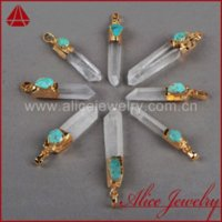 aura jewelry - Fashion Cluster Aura Druzy Pendant Natural Druzy Quartz Crystal Point amp Turquoise Pendant Golden Plated Drusy Jewelry G156