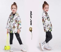 110.120.130.140.150CM baby clothing business - baby girl s coats jackets floral outwear fashion clothes Hawaii owl business suit top coats jacket for girl casual coats kids wear