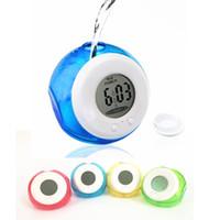 alarms technology - 4 Colors PromoLatest Technology Smart Water Power Clocks Alarm Magical Clock Digital Display Blue Red Green Yellow Clocks