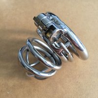 Cheap Sex Toys Male Chastity Cock Cage Anti-off Device Spike Ring Strap On Penis Stainless Steel Restraints