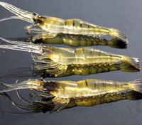 bait shrimp - 50pcs New cm Silicone Soft Shrimp Simulation Noctilucent Soft Prawn Fishing Lure Hook Bait