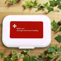 Waterproof/Convenient/Cute Red cross 8 compartments New 10PCS 8Slot Pillbox Large Vitamin Boxes Jumbo Cases Pills Holder Container Daily Medication Travel Pillboxes Free Shipping