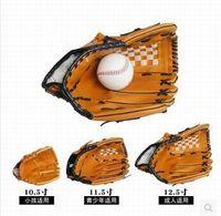 Wholesale Thicken baseball glove inch soft PVC pitcher softball baseball gloves left hand glove free baseball ball