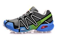barefoot skiing - 2016 Cheap Speedcross Outlet Mens Hiking Running Shoes Barefoot Sports Shoes Zapatillas Newest Style Pure Black Colors