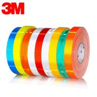 Cheap 3M Genuine Reflective Strips Car Bumper Car Styling Night lights Scratches Stickers Car Stickers Motorcycle auto Light Safety Warning