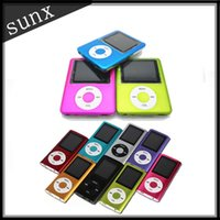 Wholesale Colorful LCD Screen MP3 MP4 Multi Media Video Player Music FM Radio With Retail Box DHL