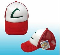 Wholesale 2016 Cheap Discount poke go Ball Caps Red Color Fashion Adjustable Mesh Baseball Cap Pokemn Go Hats Men and Women