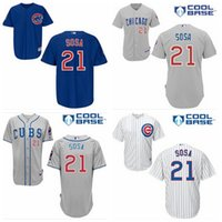 Wholesale Cheap Men New Arrival Sammy Sosa Jersey Stitched Chicago Cubs Baseball jerseys Embroidery authentic sport Majestic Jersey Free Ship