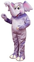 baby elephant costume - Adorable Purple Baby Elephant Mascot Adult Costume Cartoon Elephant Baby Theme Anime Cosply Costume Carnival Fancy Dress Kits
