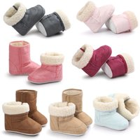 Wholesale 2016 Fashion Baby Moccasins soft sole Newborn Babies Snow Boots First Walker Shoes Baby Newborn Warm Cotton Shoes Colors Free EMS