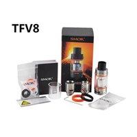 Wholesale 2pc New SMOK TFV8 Tank ml Top Refill Sub ohm tank TFV8 Cloud Beast Tank With V8 T8 V8 Q4 Coil clone e cig tanks