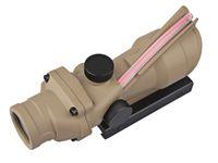 Wholesale EMERSON ACOG4X32 AG Style Scope TANACOG Style X32 Tan Real Fiber Optics Red Illuminated Scope w RMR Micro Red Dot hunting Riflescope
