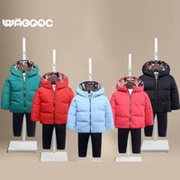 Wholesale Fashion Solid Kids Down Coat Winter Warm Casual Hooded Childrens Outwear for Boys and Girls H001