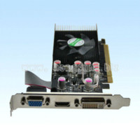 Wholesale 100 NEW NF GPU GT210 GB DDR2 VGA DVI HDMI Low Profile PCI Express Video Card via HKPAM