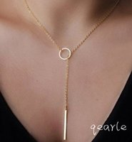 Wholesale Summer Style Gold Chain Multi Layer Necklace Metal Arrow Pendant Double Chain Women Necklace New