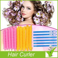 Wholesale 2016 Amazing Magic Leverag Hair Curlers Curlformers Hair Roller Hair Styling set Tools DHL Free