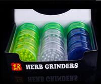 Wholesale 60mm Herbal Herb Tobacco Grinder Smoking Pipes Smoke Crusher plastic hand Muller Tobacco Grinder cigarette vaporizer