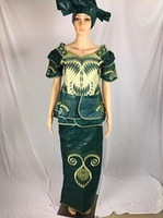 bell pics - 2016 African women s riche Bazin embroidery elephant cotton lady long dress high quality bazin dress three pics a set