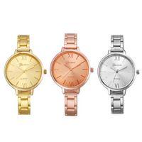 auto width - Relojes Mujer Fashion Geneva Watch Women Narrow Width Stainless Band Wist Watches Relogio Reminino Montre Femme