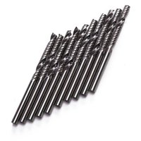 acrylic router - 10pcs Inch x25mm Shank Flute Carbide Spiral End Mill CNC Router Bit Tool For Acrylic PVC Wood And Other Materials