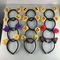Wholesale 2016 New Arrival Hot marking Personalized Cute Emoji Hair Bands Cartoon Women Girl Hairband With network expression