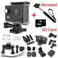 gopro camera - gopro hero style Action camera eken h9 Ultra HD K Go pro WiFi Sport camera P fps Mini Cam waterproof G card Monopod
